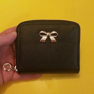 Handbags - Black and Gold Mini Bow Wallet-Never Used!